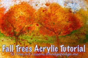 Fall-Trees-Acrylic-Art-Lesson-at-Hodgepodge-580x386