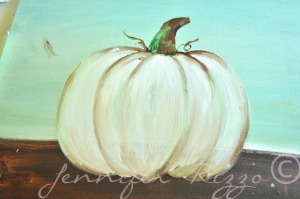 How to Paint a Pumpkin, tutorial by Jennifer Rizzo
